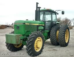 ag equipment auction in leon by purple wave auction 1988 john deere 4850 mfwd tractor