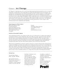 Best Ideas Of Art Therapist Resume Magnificent Art Therapy Resume