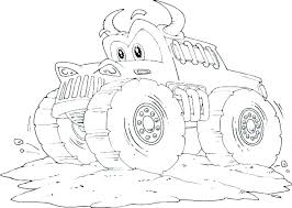 Monster Truck Coloring Pages Preschool Page Colouring To Print Free