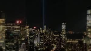 The two beams of light memorializing the victims of the sept. 9 11 Tribute In Light Shines Bright Over New York City Abc7 New York