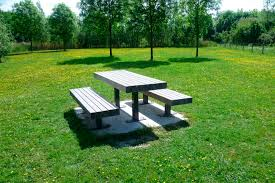 Table With Drink Trough Staggering Picnic Table Edmonton Dining Table Picnic Table Bench Combo
