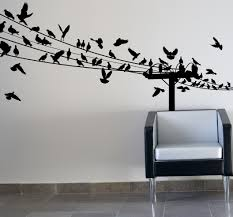 gorgeous hallway idea with vintage tile flooring style and urban sofa design and black birds on