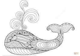 Small Picture Whale Zentangle coloring page Free Printable Coloring Pages