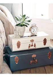Nice Two Metal Trunks   Blush U0026 Grey   Bedroom Accessories   Bed U0026 Bath   Indoor  Living
