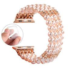 gemek for apple watch 42mm 44mm band women rose gold iwatch bands series 4 3 2
