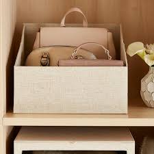 Linen Handbag Storage Bin ...
