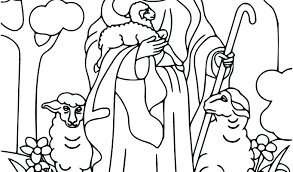 Shepherd Coloring Pages Shepherd With Sheep Coloring Page Baby
