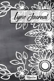 Paper Flower Lyrics Lyric Journal Flower Chalkboard Design Song Writing Journal With
