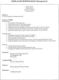 resume for homemaker resume for homemaker acepeople co