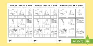 Phonics worksheets and online activities. Write And Colour The Ai Words Phonics Differentiated Activity Sheets