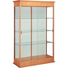 varsity series floor display case with sliding glass doors 36 w schoolsin