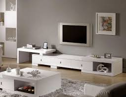 F Modern Living Room Decor Be Equipped White TV Stand And Modern Coffee Table  Or Plus Carpet Wood Flooring