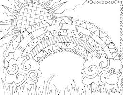 Unicorn Under Rainbow Coloring Pages Rainbow Coloring Page Unicorn