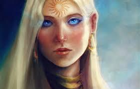 обои девушка солнце лицо узор арт татуировка Dragon Age