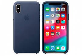 Купить <b>Чехол Apple Leather</b> Case для iPhone XS, тёмно-синий ...