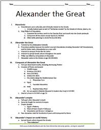alexander the great and the hellenistic world alexander the great and the hellenistic world printable outline for grades