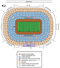 Notre Dame Seating Chart With Seat Numbers University Of Notre Dame Fighting Irish Football Notre