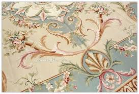 aubusson area rugs pastel blue ivory pink rug carpet free ship french shabby rose chic home