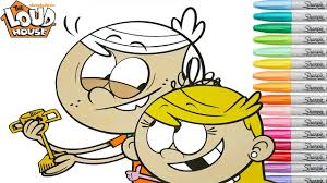 The Loud House Coloring Book Pages Lincoln Lola Rainbow Splash Youtube