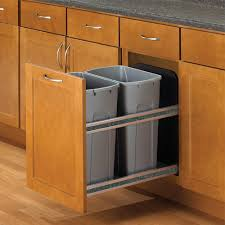 Door Mounted Trash Can In Cabinet Trash Cans Kitchen Cabinet Gallery