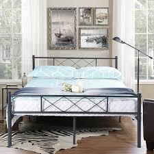 metal platform bed frame. SimLife Metal Platform Bed Frame With Headboards, Full / Black