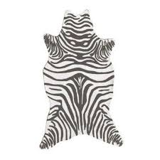zebra gray 5 ft x 8 ft indoor area rug
