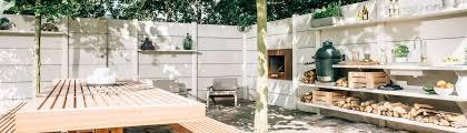 WWOO outdoor kitchen, d betonnen buitenkeuken in het lichtgrijs