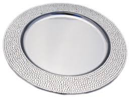rhinestone charger plate modern plates by sparkles home