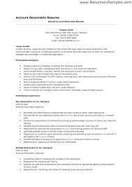 Account Receivable Resume Inspiration The Sample Resumes For Accounts Payable Accounts Receivable Resume