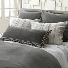 stone washed shale linen duvet cover zoom