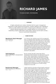 Warehouse Resume Examples Stunning Warehouse Manager Resume samples VisualCV resume samples database