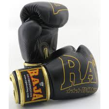 raja boxing special black leather gloves
