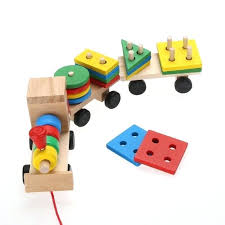 Wooden Board Games Uk Educational Toys Wooden Toddler Baby Stacking Train Block Toy Fun 60