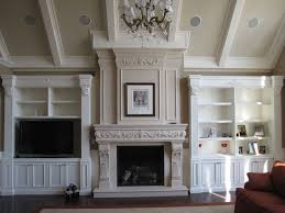fireplace mantel shelves living room contemporary with cast stone fireplace mantel1 image by manteirectcom