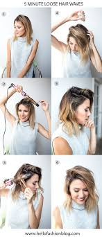 5 Minute Hairstyles For Girls 25 Best Ideas About Wavy Bob Tutorial On Pinterest Styles For