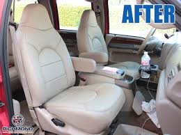 1999 ford f 250 lariat leather seat cover passenger side complete set tan