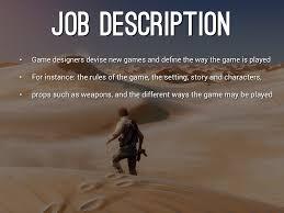 Video Game Designer Job Description Game Design by Kole Phankhaysy 1