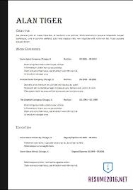 Resume Format 2017 Awesome Resume Format 60 60 FREE Word Templates