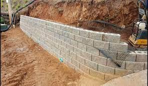 install block stone retaining walls
