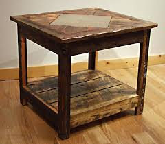 barn board tables misty mountain furniture reclaimed barn wood rustic awesome end tables in addition to barn board coffee table ontario