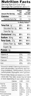 frosted oat flakes nutrition