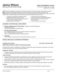 Cover Letter Marketing Student Resume Mba Marketing Student Resume