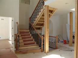 Decorations:Classic Spiral Wooden Steps Design With Black Wooden Railing  Also Carving Accents Luxury Contemporary
