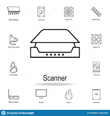 Graphic Design Downloads Pc Pc Scanner Icon Detailed Set Of Computer Part Icons