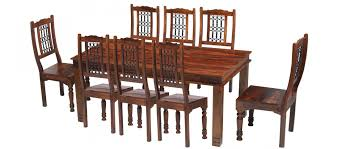 jali sheesham 200 cm chunky dining table and 8 chairs