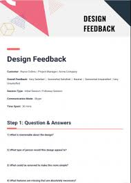 What Is A Design Template Design Feedback Template Bit Ai Document Collaboration