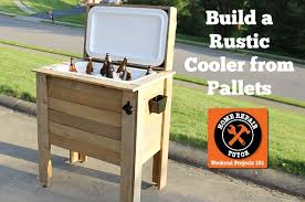 rustic cooler from pallets