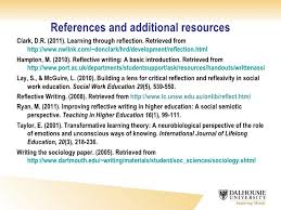 answer the question being asked about reflective account essay