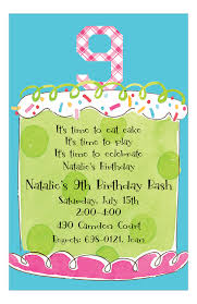 Girl Ninth Birthday Invitation Polka Dot Design Beauteous Birthday Invitation Pictures