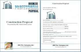 Construction Proposal Format Classy Contractor Bid Proposal Template Free Yakultco